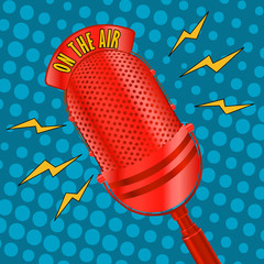 Pop art microphone