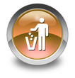 "Orange Glossy Pictogram ""Litter Container"""