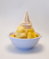 Sorbet with Pineapple