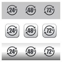 Icône délais livraison 24 - 48 - 72 heures