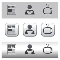 Icônes médias