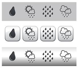 Icônes météo pluie