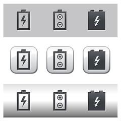 Icônes pile et batterie