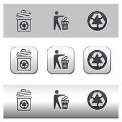 Icônes recyclage