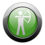 "Green Metallic Orb Button ""Archery"""