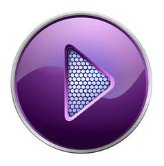 Shiny purple play button