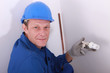 Plumber with a thermostatic radiator valve