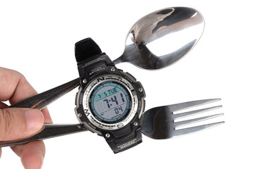 Tableware and watch