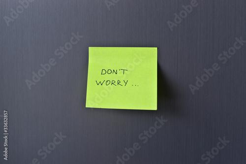 """Стикер на холодильнике """"Не волнуйся"""" Poster"""