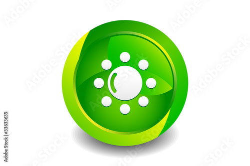 Green Sunlight Icon