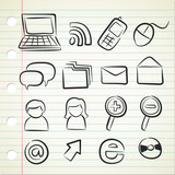 sketchy technology icon poster