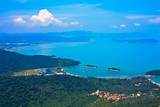 Fototapety Bird's eye view from Langkawi Cable Car- Malaysia
