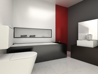 Modern bathroom for residences or hotels