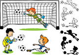 Goalkeeper soccer kids