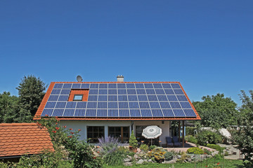 Solar electricity on one family home