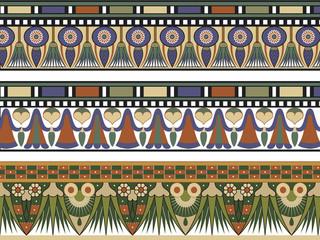Set of three Egyptian border, vector illustration