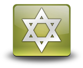 "Yellow 3D Effect Icon ""Star Of David"""
