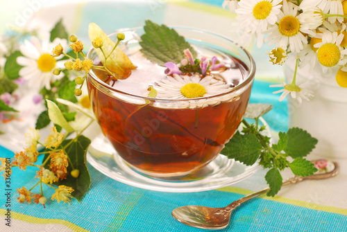 glass of herbal tea