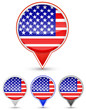 set of usa buttons isolated on white background