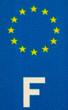 blason européen, plaque immatriculation