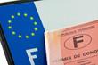 plaque immatriculation, permis de conduire français