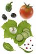 Salade Mozzarella, tomates, concombre