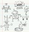 Robot doodles - 33644663