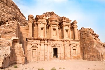 Monastery in Petra. Jordan