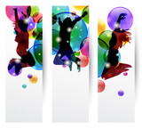 Set di tre banner - Banners with jumping people