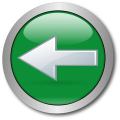 Grüner Button Pfeil nach links