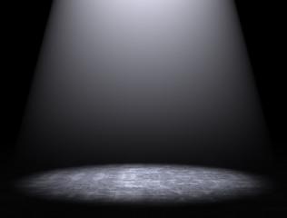 fondo con suelo de cemento y luz de foco
