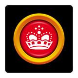 Internet, bouton, logo, picto, couronne, bijou, royal, luxe poster