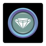 Internet, bouton, logo, picto, diamant, bijou, pierre précieuse poster