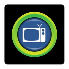 Internet, bouton, logo, picto, TV, téléviseur, écran, télévision