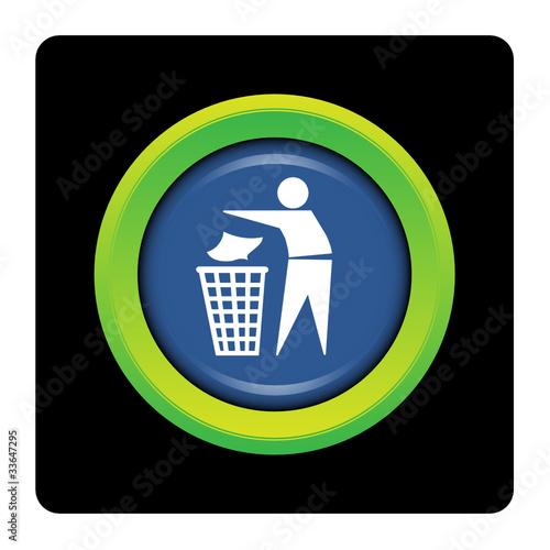 internet bouton logo picto poubelle jeter tri d chet fichier vectoriel libre de droits. Black Bedroom Furniture Sets. Home Design Ideas