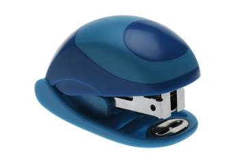 Blue mini stapler closeup