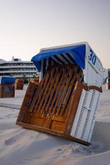 Kippender Strandkorb