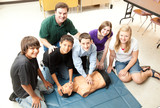 Students Learn CPR poster