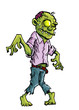 Cartoon zombie isolated on white