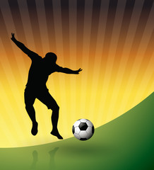 Soccer Player and Ball-Football poster