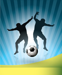 Soccer Players and Ball,-Football poster