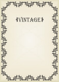 Vintage vector decorative frame for book cover background