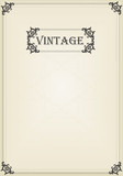 Vintage vector decorative frame for book cover