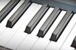 black & white piano keys