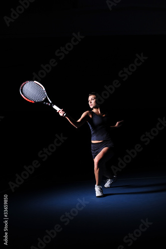 woman play tennis