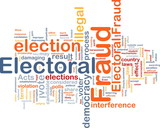 Electoral fraud background concept