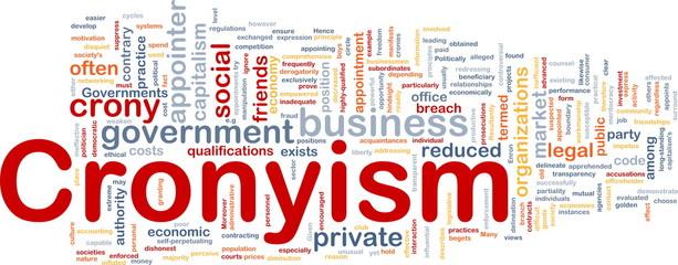 Cronyism background concept