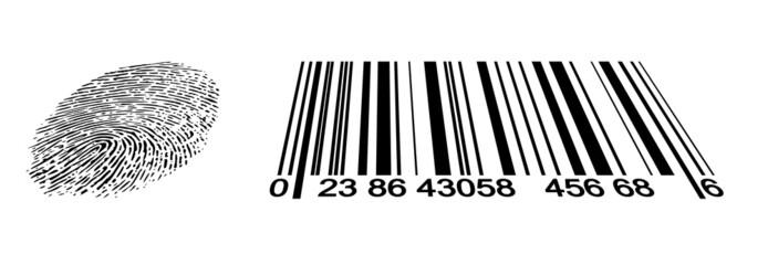 Fingerabdruck/Barcode