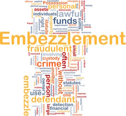 Embezzlement background concept