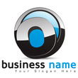 logo business design, lettre O